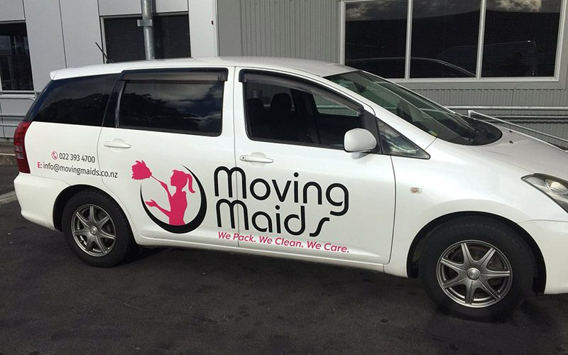 Moving Maids Van
